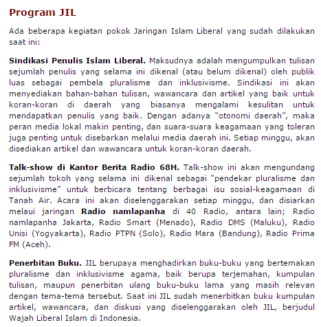 Photo of Ini Program-Program Islam Liberal Kuasai Indonesia