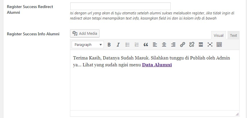 plugin wordpress data siswa