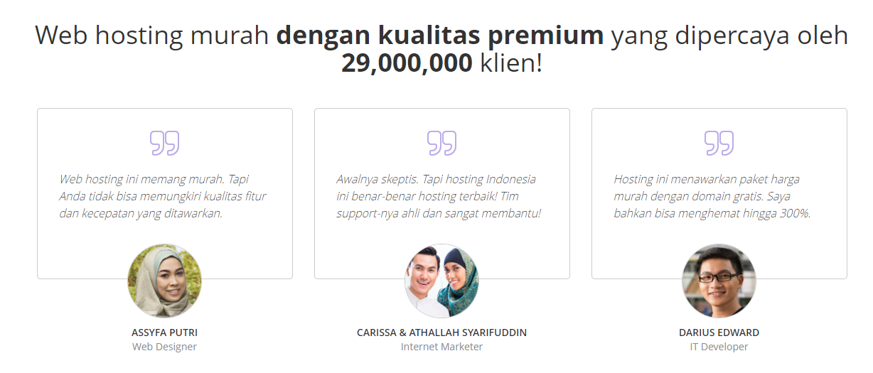Web hosting murah Indonesia - hosting terbaik & domain gratis